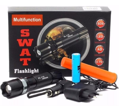 Lanterna Tática Police Swat Multifunction Led Cree 88.000w