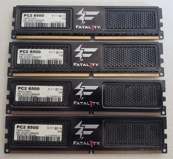 Kit Memórias Ddr2 1066 Ocz Fatal1ty 4x2gb