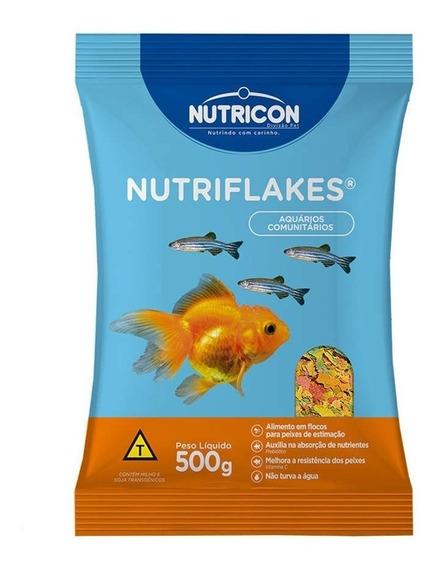 Ração Flocos P/ Peixes Ornamentais Nutriflakes 500g Nutricon