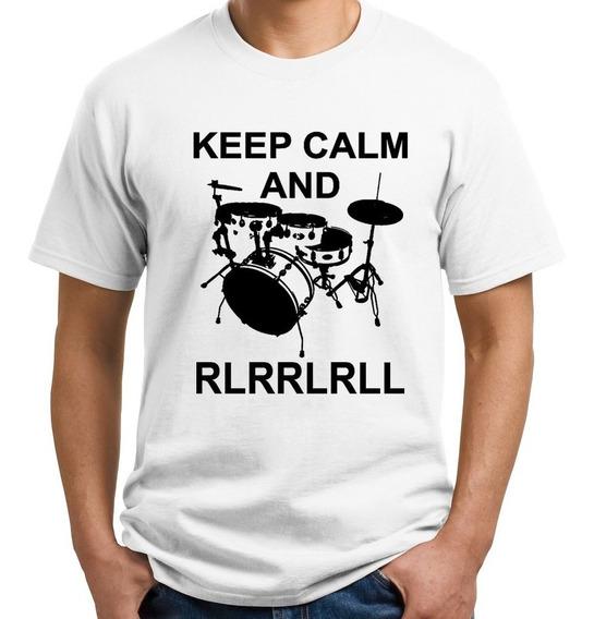 Camiseta Keep Calm Baterista Masculino