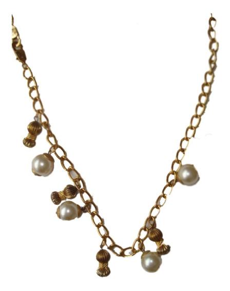 Collar Cadena Cinturon Largo C/perlas E.gratis Cuotas !