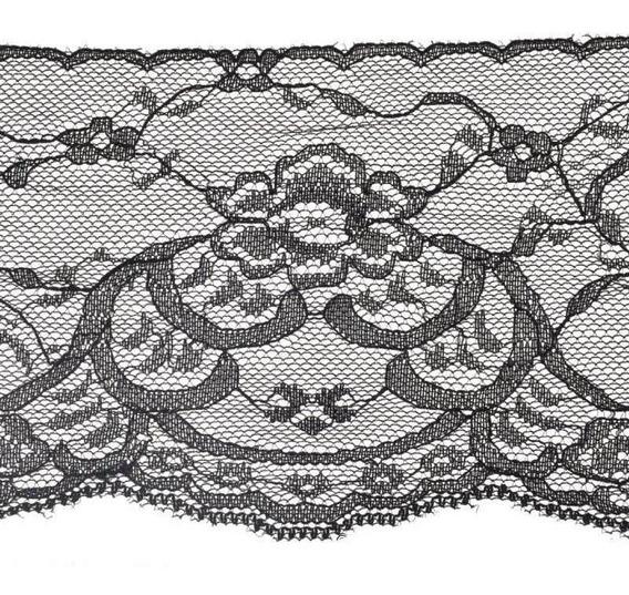 1m x 95mm Black Lace