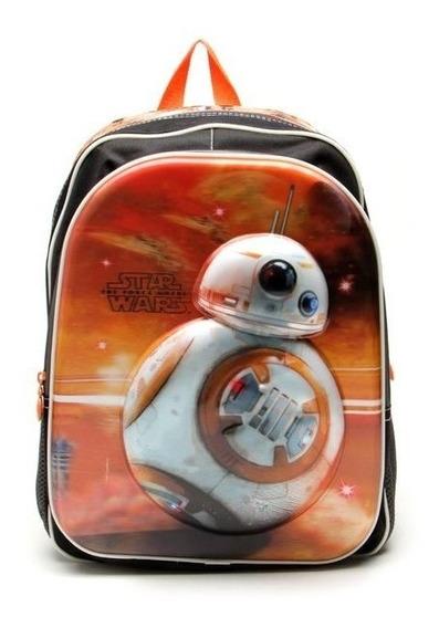 Mochila Escolar G Costas 3d Robô Bb8 Star Wars 17x - Sestini