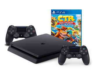 Consola Ps4 Slim 1tb + Crash Team Racing + 2 Mandos