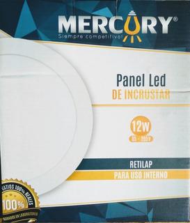 Panel Led 12w X10 Redondo Incrustar Luz Blanca