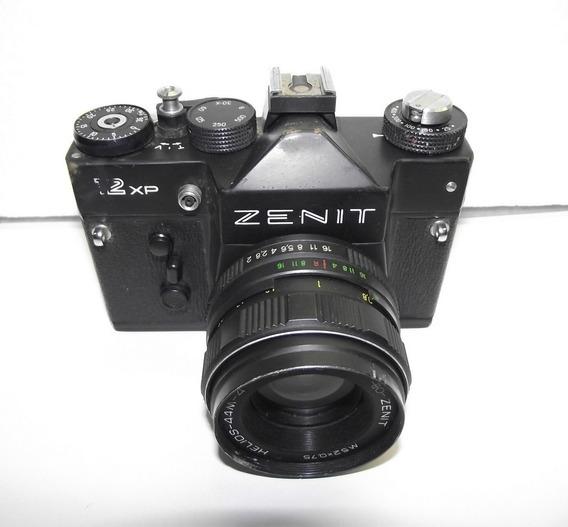Máquina Fotográfica Zenit - 12xp - 58mm Preta, Linda P/colec