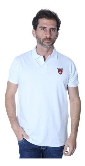 Camisa Polo Yacht Sport Meia Malha Branco Frete Grátis