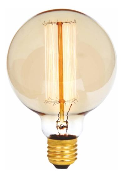 6 Lâmpada Filamento Carbono G95 Dimerizável E27 40w G-light