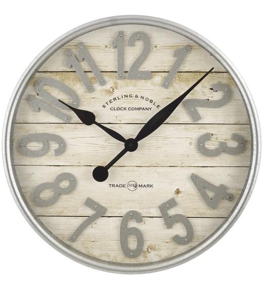Reloj De Pared Minimalista Galvanizado Moderno Y Elegante