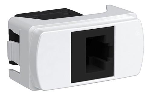 Imagen 1 de 4 de Toma Rj45 1 Modulo Cat. 5e (8hilos) Utp Schneider S3b74100