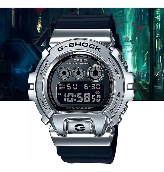 Relógio Casio G-shock Digital Gm-6900-1dr Prata