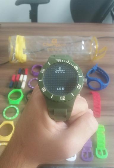Relógio Troca Pulseira Champion Watch Led