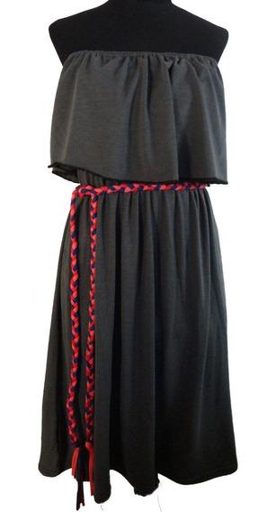 Vestido De Modal Strapless - 2330 Indumentaria