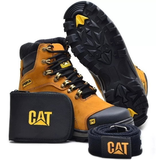 Bota Adventure Caterpillar Carteira E Cinto Cat