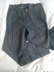 Pantalon Kevingston Verde Plomo Como Nuevo