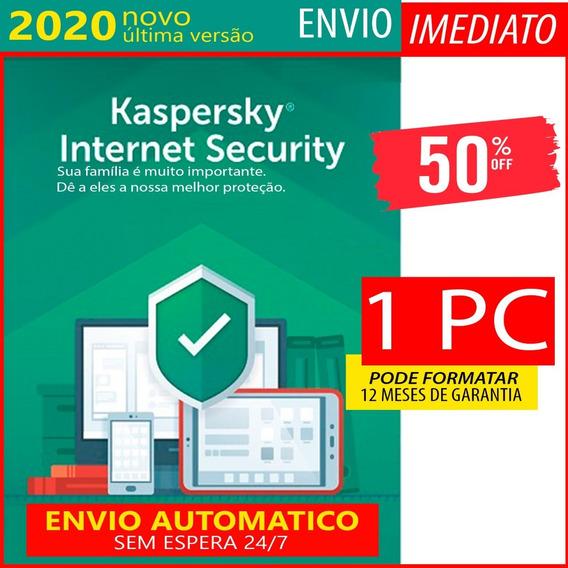 Kaspersky Internet Security 1 Pc 1 Ano Envio Imediato