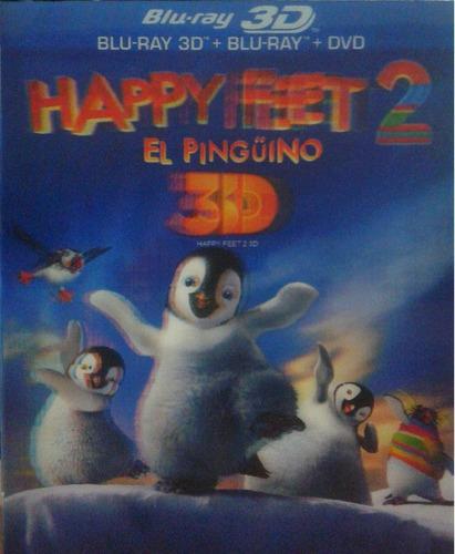 Happy Feet 2 Dos El Pinguino Pelicula 3d + Blu-ray + Dvd