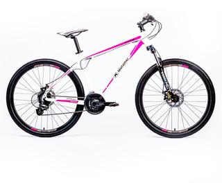 Bicicleta Motomel R27.5 Mtb Maxam 375 Ts Blanco Y Violeta