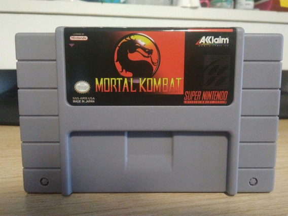 Mortal Kombat Snes Cartucho Super Nintendo