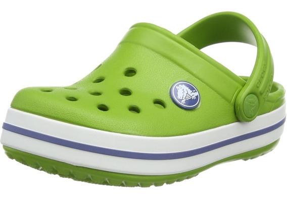 Crocband Jr Parrot Green - Verdes Envios A Todo Pais