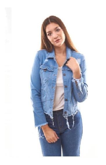 Campera Elastizada Mujer Jeans Roturas Talles Grandes 36 Al 60