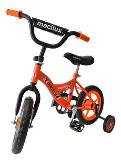 Macilux Bicicleta Infantil Rodada 12 Con Llantas Entrenadoras