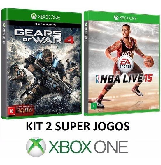 Gears Of War 4 + Nba Live 15 / 2015 - Midia Fisica Xbox One