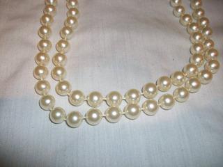 Collar Largo Perlas Grandes Importad Oferta Remate Bisuteria