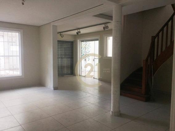 Sobrado Comercial Locação Venda 300m², Com Área Aberta, Iluminada, Localização Privilegiada Na Vila Madalena - So2344