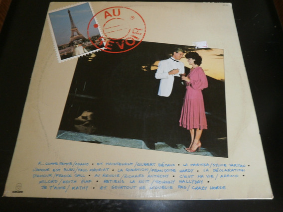 Lp Au Revoir - Música Francesa, Disco Vinil, Ano 1985