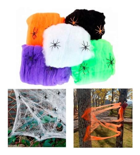 Decoração De Halloween Teia De Aranha Branca Melhor Preço
