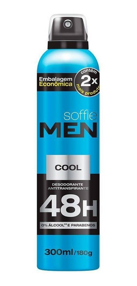 Desodorante Antitranspirante Soffie Men Cool 48h 300ml