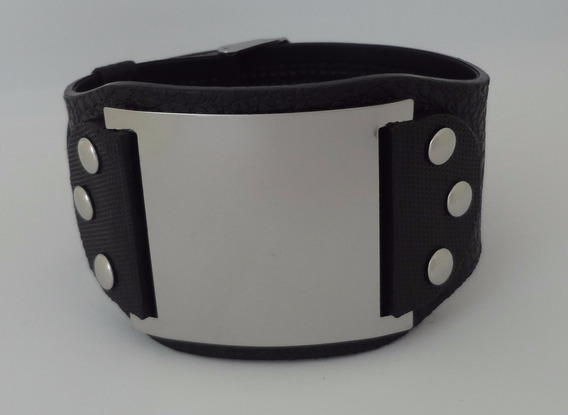 Pulseira Bracelete Masculino Ou Feminino Placa Lisa Pm 11