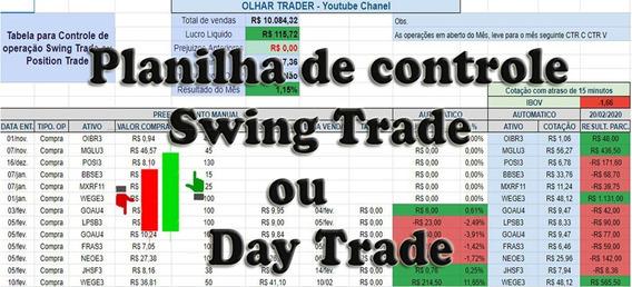 Planilha De Acompanhamento Swing Trade / Day Trade