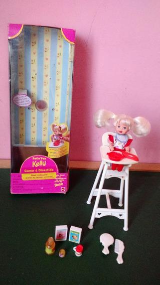 Boneca Kelly Irmã Barbie Cadeirão Comer É Divertido 97