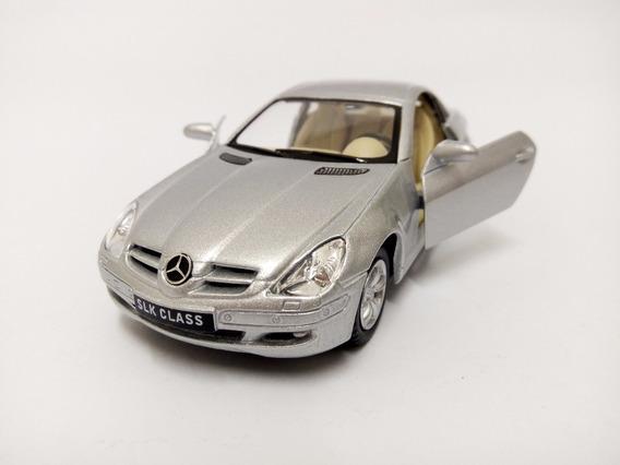 Miniatura Mercedes Benz Slk Class Prata 1:32 Kinsmart