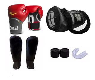 Kit Boxe Muay Thai Pro+ Luva + Bolsa + Acessórios