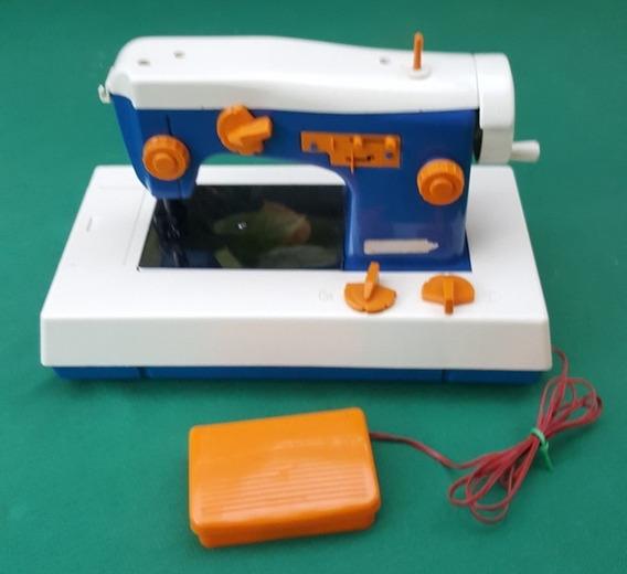 Estrela Antiga Mini Maquina De Costura Azul Funciona - A1