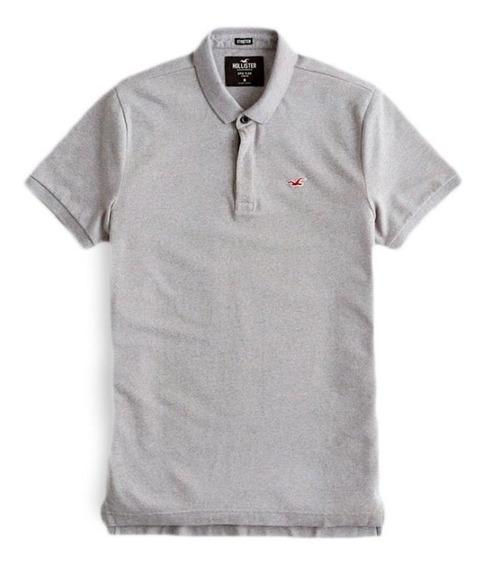 Camiseta Hollister Masculina Polo Stretch 100% Original Imp.