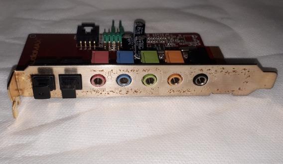 Placa De Áudio Audiomax A418 V1.0 5 Portas Usada Original