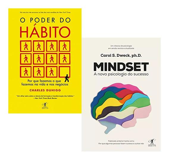 Livros Mindset + O Poder Do Hábito Novo Lacrado Frete Gratis