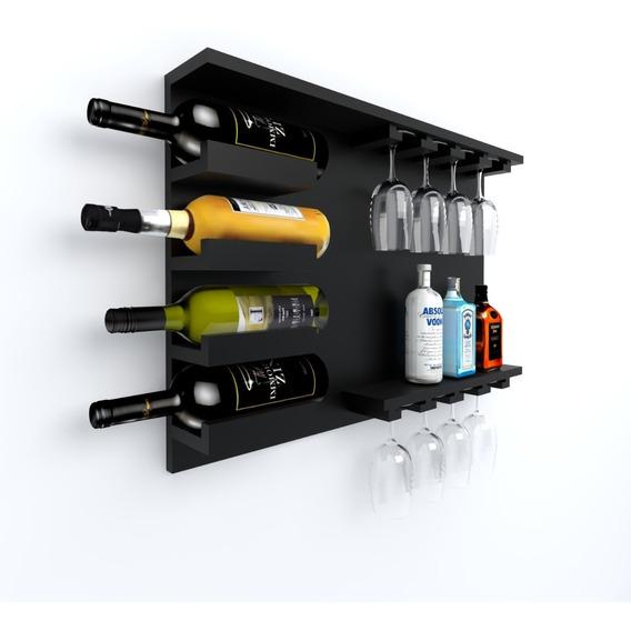 Estante Para Vinos Bodega Vinoteca Porta Copas Decoración