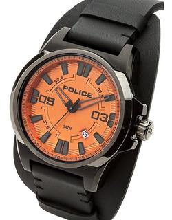 Reloj Police Pl 14200jsbu/17 Hombre Cuero Empavonado 50 Mts