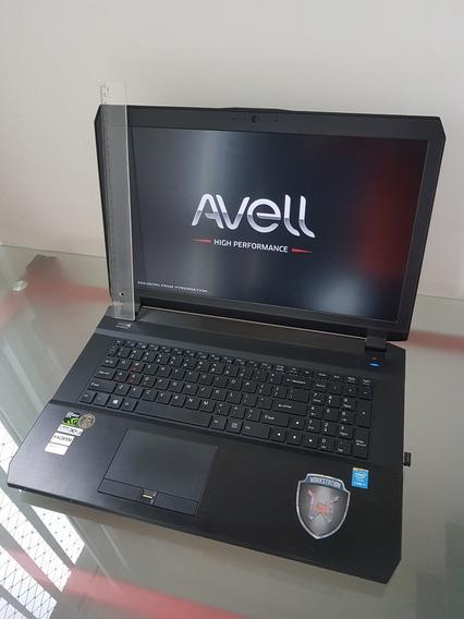 Notebook Avell W1745 Core I7 32gb Nvidia 980m 4gb 256gb+2tb