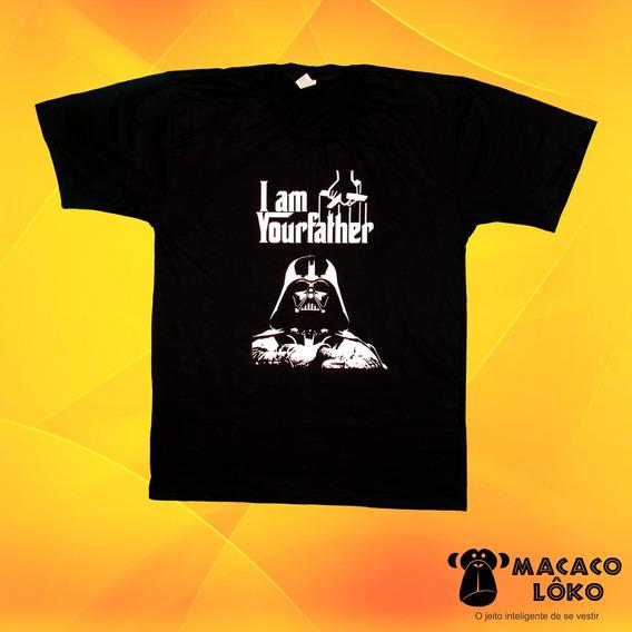 Camiseta Masculina Star Wars Poderoso Chefão 100% Algodão