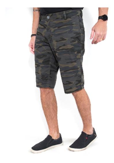Bermuda Masculina Camuflada Revanche Jeans Original