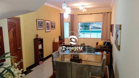 Sobrado Com 4 Dormitórios À Venda, 220 M² Por R$ 1.300.000 - Vila Valparaíso - Santo André/sp - So2558