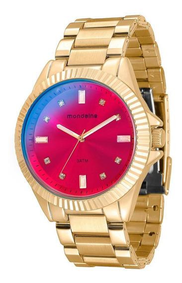 Relógio Mondaine Feminino Glamour Dourado 76480lpmvde1