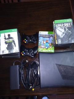Consola Xbox360 Slim - Con Rgh +100 Juegos Rgh, 2 Joysticks,