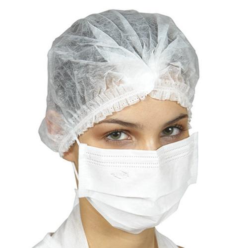 Máscara Protdesc Tripla Branca Com Elástico 50un